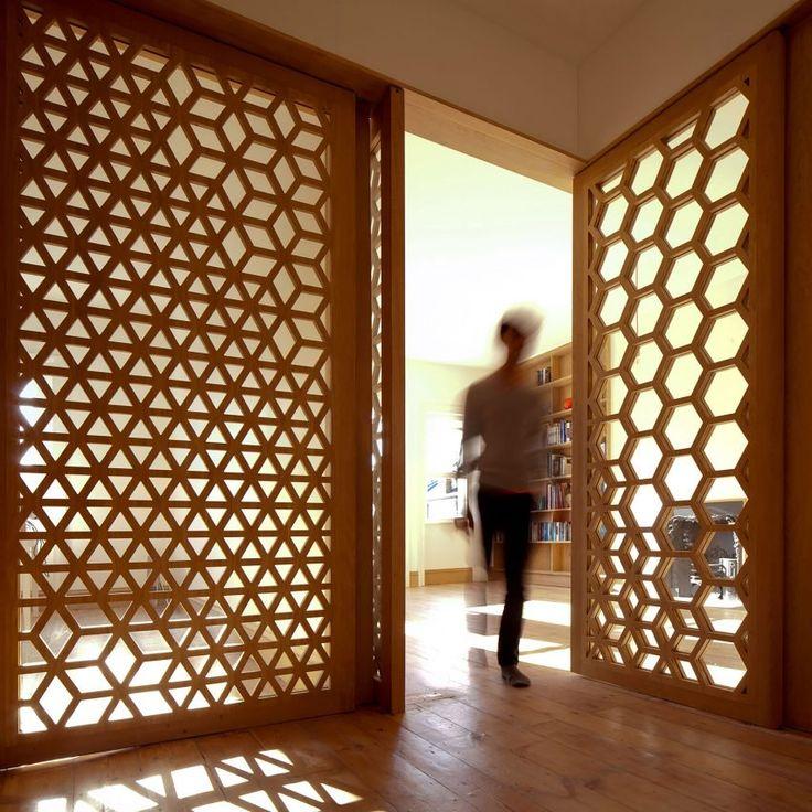 Studio Ben Allen uses geometric screens to create adaptable London apartment