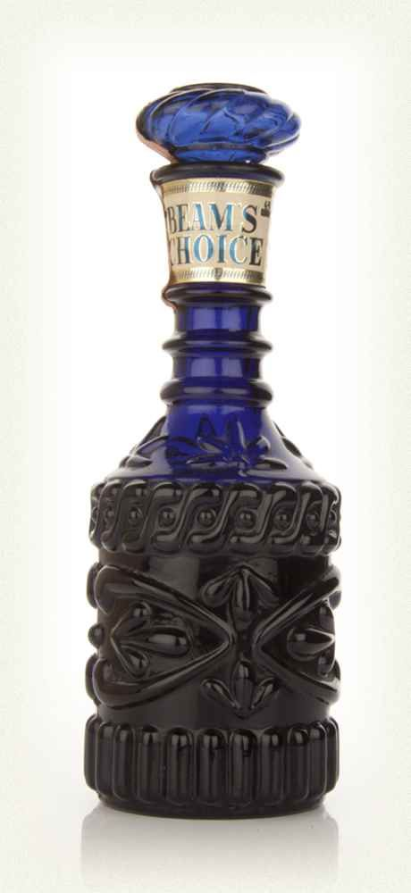 Jim Beam Blue Decanter - 1960s  this bottle i like the the look of it with the engravings