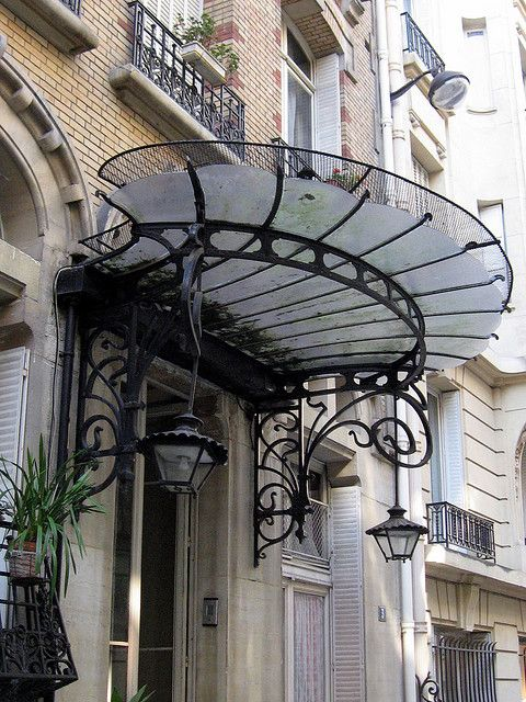 Glass and iron canopy, Square de Luynes, Paris 7th