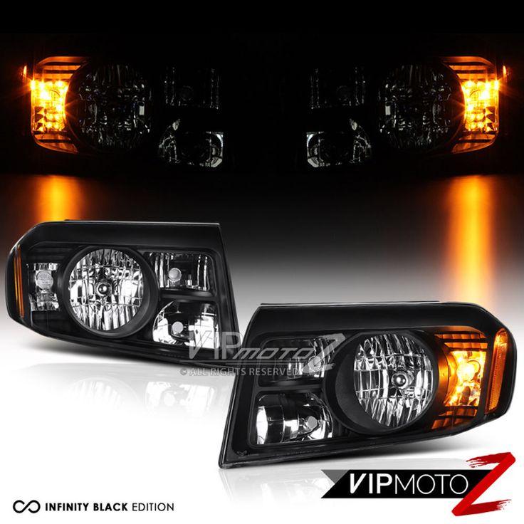 2009-2011 Honda Pilot Black Factory Replacement Headlights Headlamps Left Right #VIPMOTOZ
