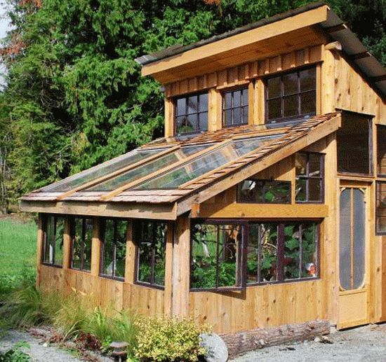 Green Home Design Ideas: Greenhouse And Shed Combo