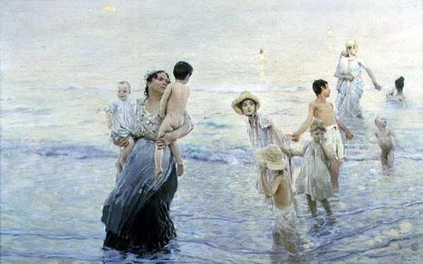 July (At the Beach), 1893-94 by Ettore Tito