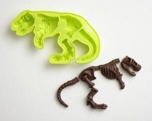 Paleontologists Dig Dinosaur Tyrannosaurus T-Rex Bones Silicone Chocolate Candy Mold