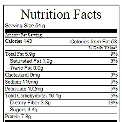 Per banana granola bar WITH chocolate chips: Weight Watchers Points Plus: 4 Recipe was calculated with gram measurements and2 …