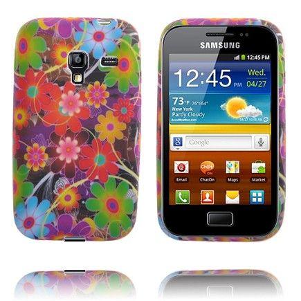 Symphony (Rød & Grøn Blomster) Samsung Galaxy Ace Plus Cover