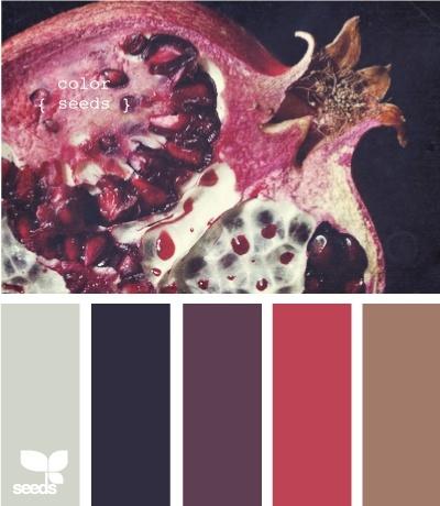 Bovenste afbeelding negeren - kleurenstalen. Mogelijke kleurencombi om fuchsia te combineren met wat meer mannelijke kleuren