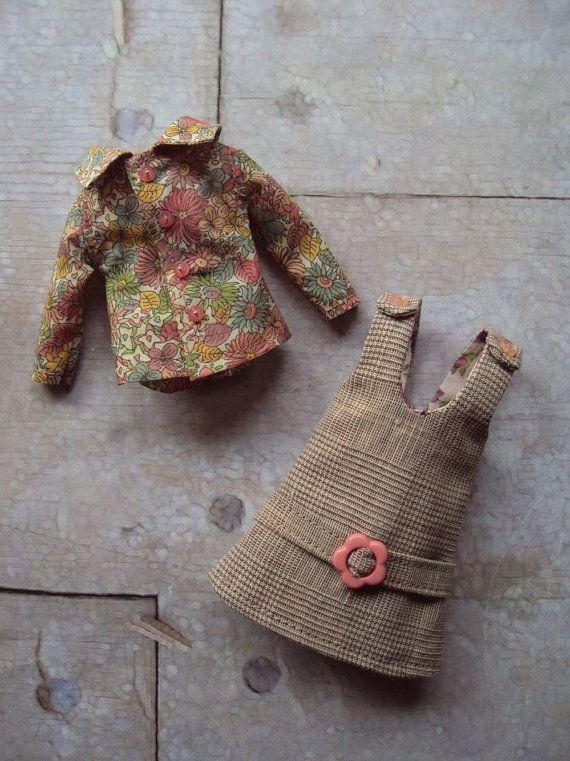 Spirit of '72 Jumper dress set for Blythe Pink par moshimoshistudio