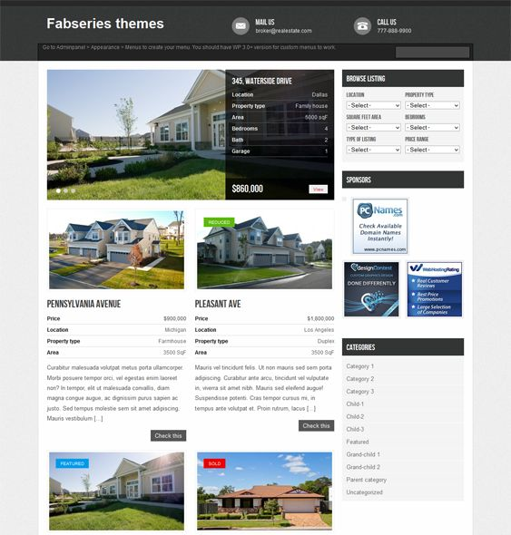 This Free Real Estate WordPress Theme Comes With A Clean Design