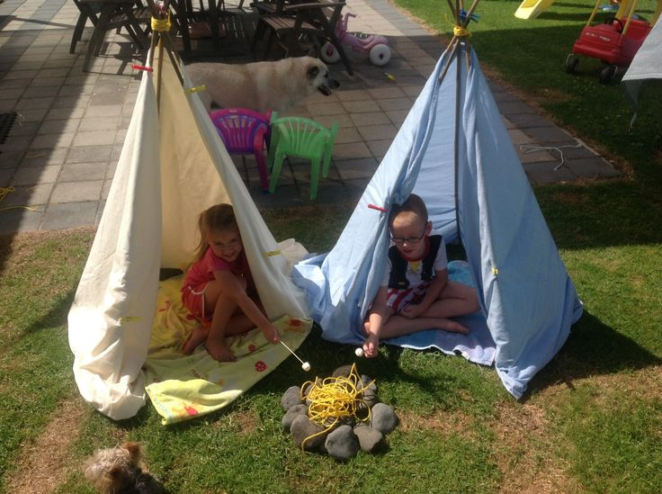 Home made Teepee's not actually any sewing required but one day I'll love to try sew my own design!