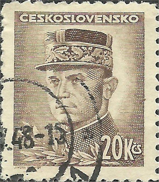 Znaczek: Milan Rastislav Štefánik (Czechosłowacja) (Portraits) Mi:CS 475,Sn:CS 300A,Yt:CS 417,AFA:CS 331,POF:CS 428