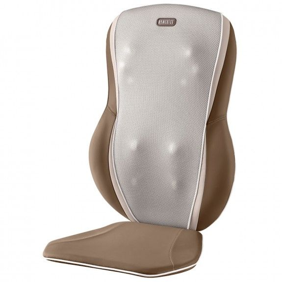 Last time I was in Bed, Bath, and Beyond my husband found me all cozied up, relaxing in a chair outfitted with a HoMedics Triple Shiatsu Massage Cushion.