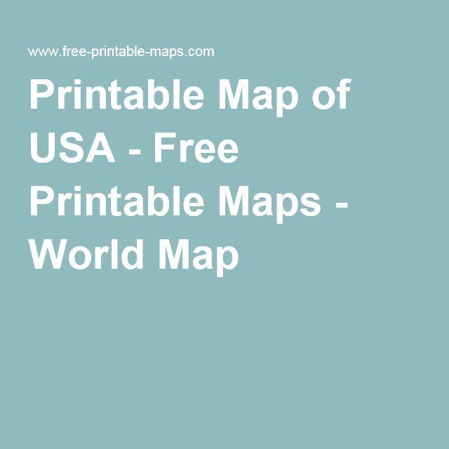 Printable Map Of Usa Free Printable Maps World Map
