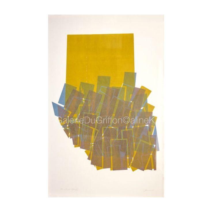 ➕ MARIA BONOMI ( née en 1935)  TOUS LES TOMBEAUX DU MONDE, 1967 Xylogravure sur contreplaqué, 150 x 100 cm   Signée & annotée E.A