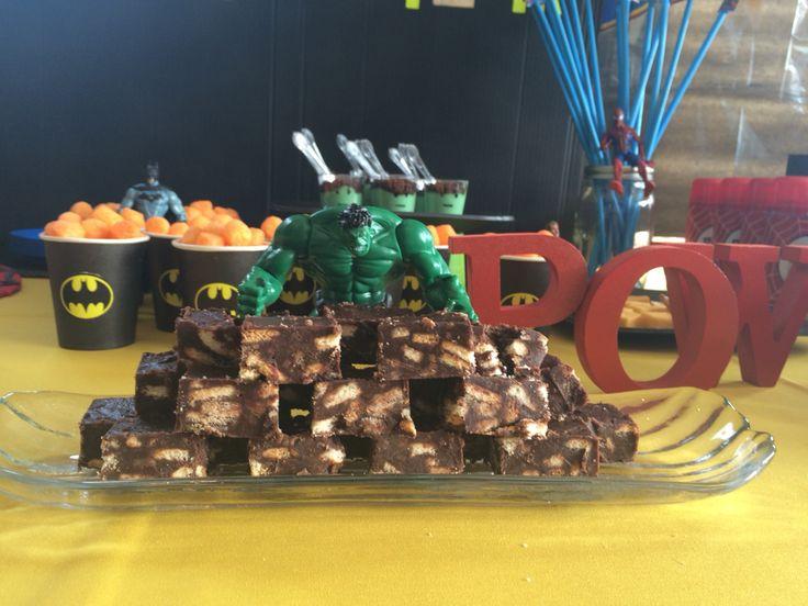 Hulk smashing the cookie- fudge wall