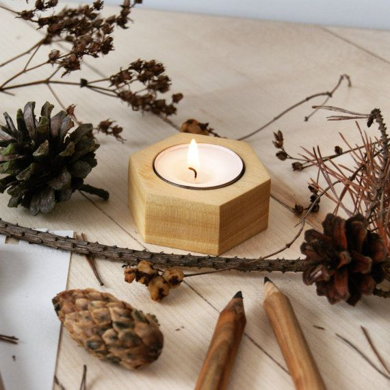 Ayous modern geometric hexagon wooden candle holder by KCRMcrafts >https://www.etsy.com/shop/KCRMcrafts<