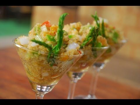 Asparagus and Quinoa Salad | New Season | Cooksmart | Sanjeev Kapoor Khazana  Watch this video to find out how to make this recipe. ASPARAGUS AND QUINOA SALAD A healthy salad made with quinoa, asparagus, apricots and capsicums …  http://LIFEWAYSVILLAGE.COM/cooking/asparagus-and-quinoa-salad-new-season-cooksmart-sanjeev-kapoor-khazana/