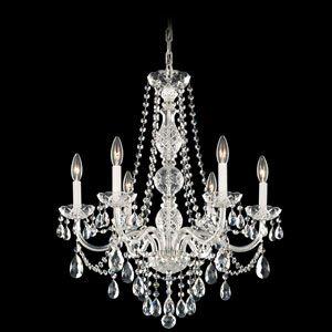 Schonbek Lighting 1303-40H Arlington Silver 6 Light Chandelier