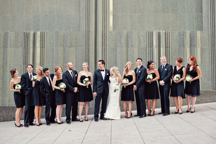 Black Bridal Party Attire  #guysandgirls #dreamday