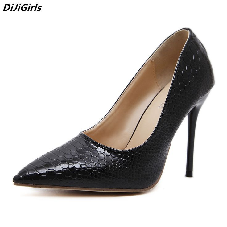 DiJiGirls ladies office shoes pointed toe thin heel career women pumps 10cm high heels black leather shoes zapatos mujer size 40 #Black high heels http://www.ku-ki-shop.com/shop/black-high-heels/dijigirls-ladies-office-shoes-pointed-toe-thin-heel-career-women-pumps-10cm-high-heels-black-leather-shoes-zapatos-mujer-size-40/