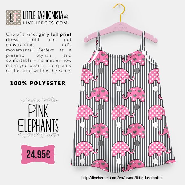 #elephants #animal #balloons #dots #polkadots #stripes #hearts #cute #girly #lines #bars #girldress #dress #liveheroes #liveheroesshop #littlefashionista