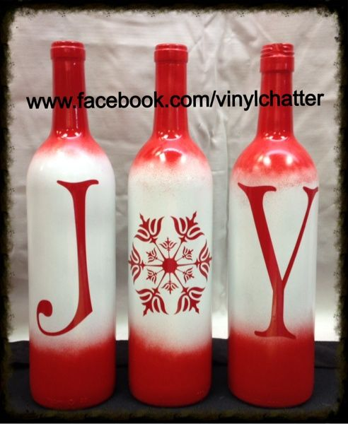 17 Best Ideas About Christmas Wine Bottles On Pinterest