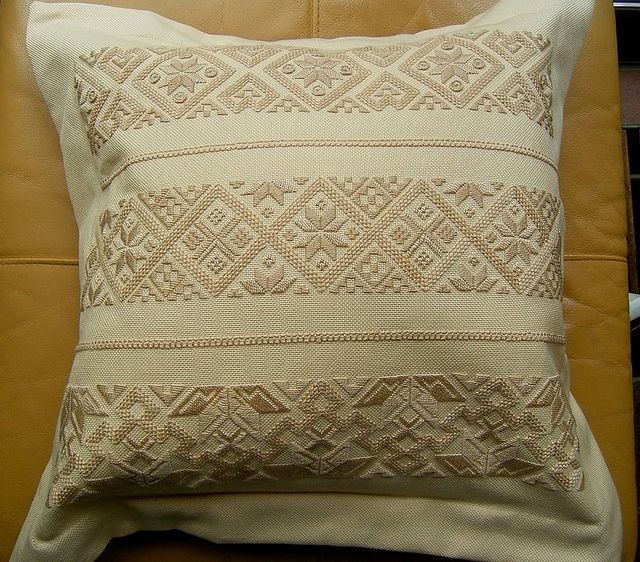 Pillowcase in Taellesyning, a form of Hedebo embroidery