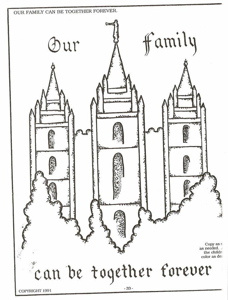 Salt Lake Temple Simple Coloring Pages