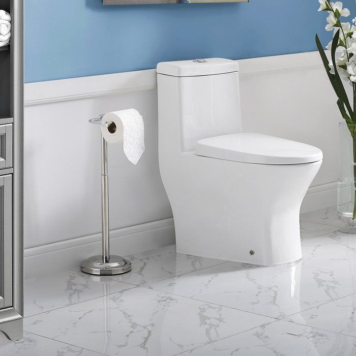 Sublime Ii Dual Flush Elongated One Piece Toilet Seat Included
