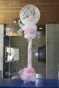 columnas de globos para primera comunion