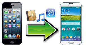 transférer le contenu d'un iPhone vers un Samsung S5