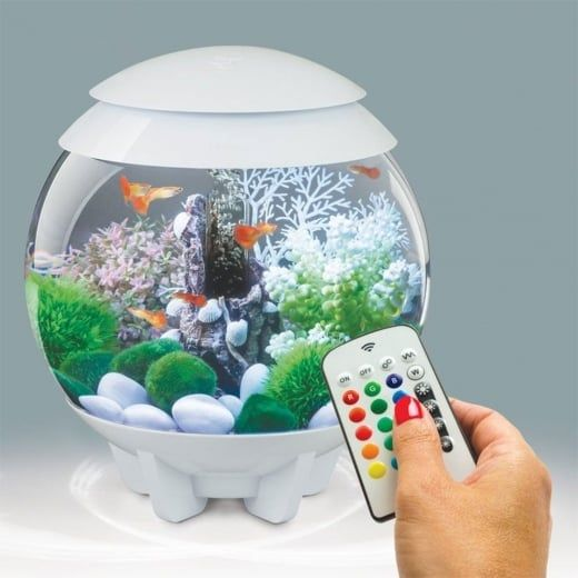 BiOrb HALO 15 Aquarium with MCR - White - BiOrb from Pond Planet Ltd UK