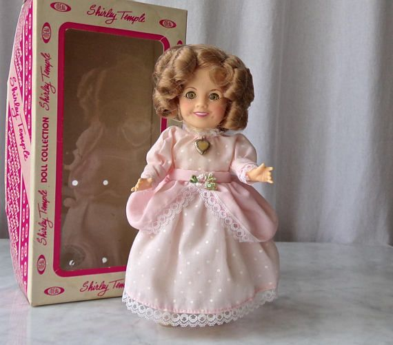 Vintage Shirley Temple Doll Ideal Toys Little Colonel Pink