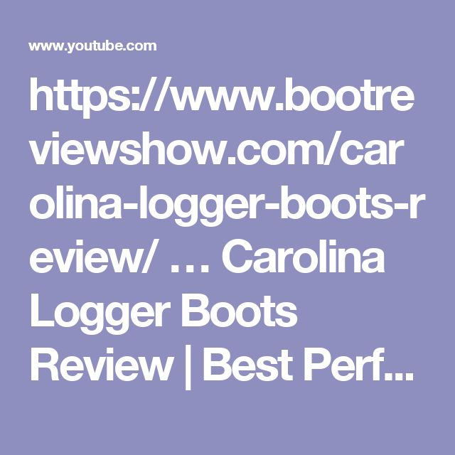 https://www.bootreviewshow.com/carolina-logger-boots-review/ …  Carolina Logger Boots Review | Best Performing Work Boots For Loggers