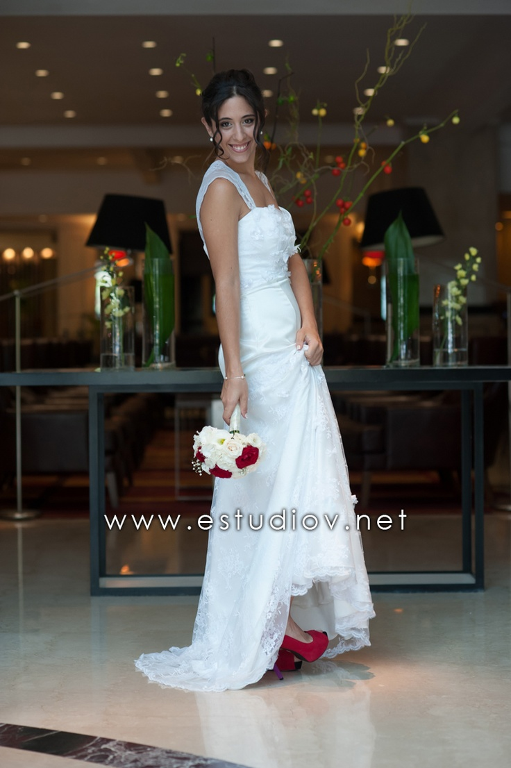 Wedding Dress + Color Shoes