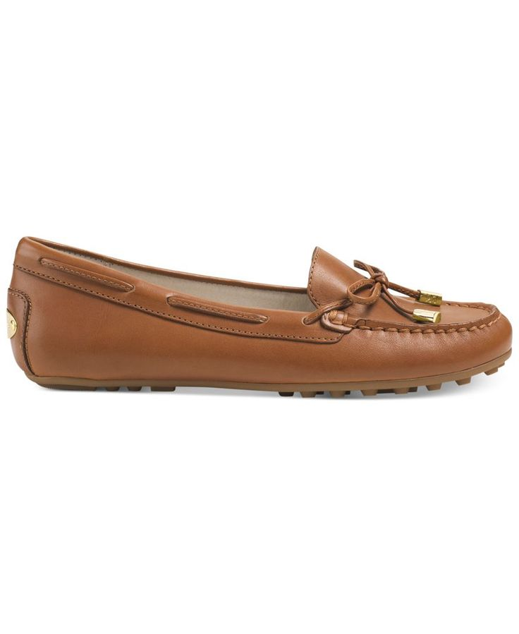 The look of comfortable luxury. The Daisy moc flats by Michael Michael Kors. | Imported | Suede & Leather uppers | Almond closed-toe moc flats  | Rubber sole | Web ID:2083478
