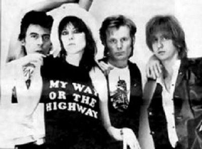 The Pretenders ~ original lineup  Pete Farndon, Chrissie Hynde, Martin  Chambers & James Honeyman-Scott