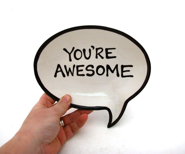 You're Awesome Plate. $18.00, via Etsy.