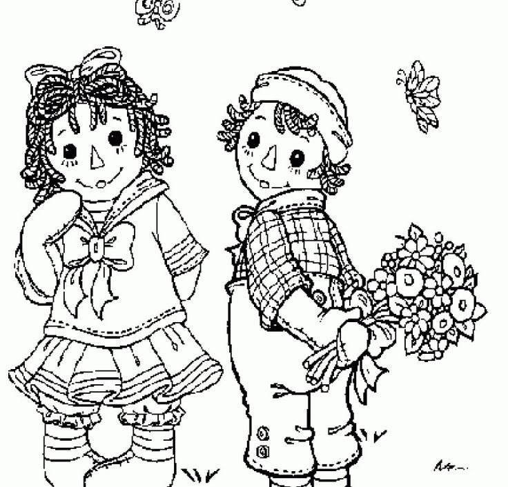 1000 images about raggedy ann andy art pages on for Raggedy ann and andy coloring pages