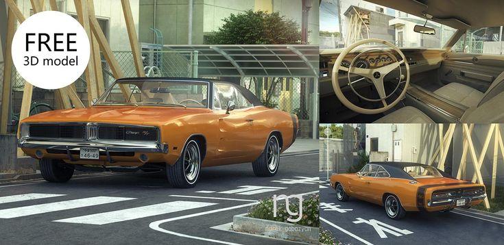 Si eres fanático de los automóviles no te puedes perder este detalladísimo modelo 3D de un 1969 Dodge Charger, de autoría del artista de origen ruso Narek Gabazyan.  El vehículo ha sido compartido de manera gratuita por medio de su perfil de Behance, y está disponible en formato compatible con 3ds Max y V-Ray 3.