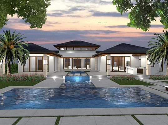 Miami | Ft Lauderdale Spectacular Bali-style new construction in Miami Listed by: Lizzie Padro & Company | Coldwell Banker Previews International