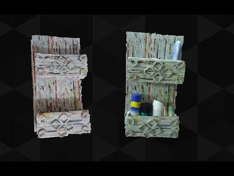 Easy and Durable Newspaper wall mount rack | Newspaper organizer | Art With Neha 102 - YouTube