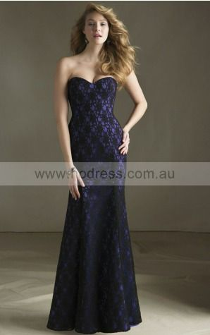 Lace Strapless Natural A-line Floor-length Bridesmaid Dresses 0740625