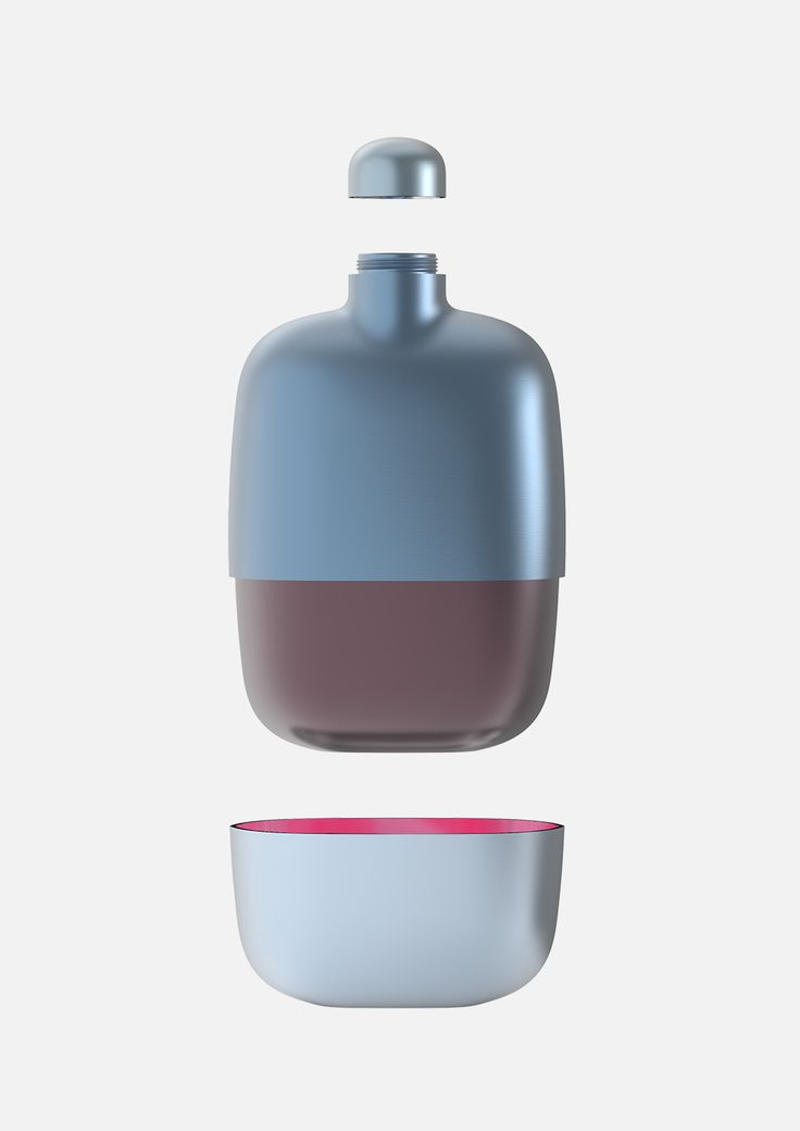 In collaboration with Nonino — a grappa brand with a 100-year history— the Dutch design bureauScholten & Baijings has designed a grappa travel flask. Grappa is a distilled Italian alcoholic drink made from the left overs from winemaking.