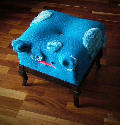 Otto-blue-man by Magda Bielecka, via Behance
