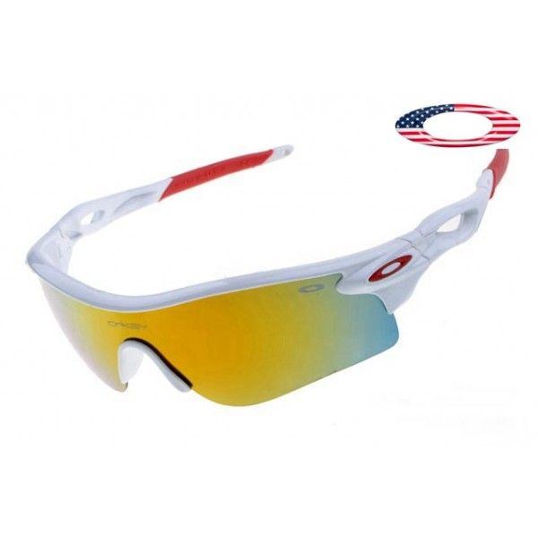 $13 - Cheap oakley free shipping radarlock sunglasses white / fire iridium