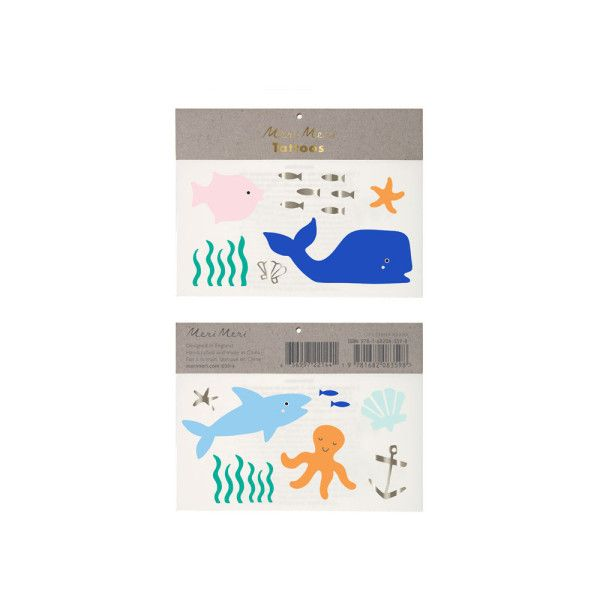Sea Life Tattoos ($2.51) ❤ liked on Polyvore featuring accessories and body art