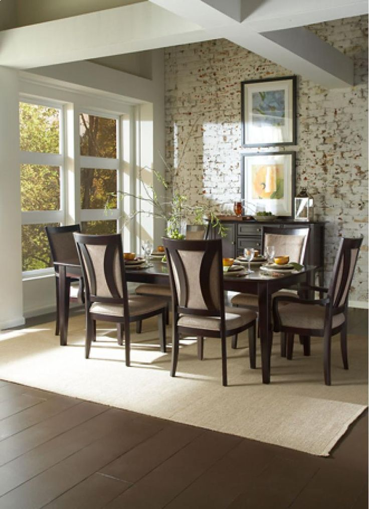 Kensington Leg Dining Table With Contemporary Chairs By Aspenhome