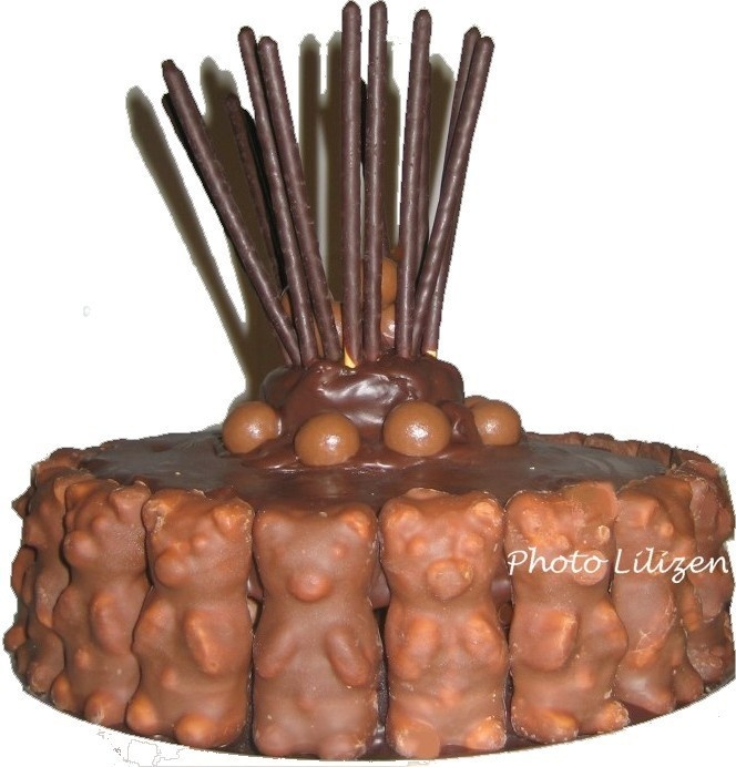 Gateau nounours en chocolat