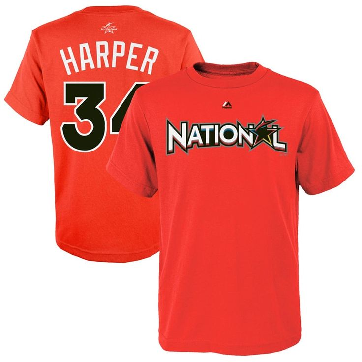 Youth 2017 All-Star Bryce Harper Orange National League Name & Number T-Shirt