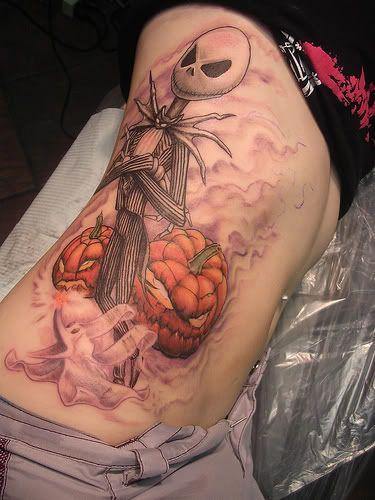 The Nightmare Before Christmas, Jack Skellington ribcage tattoo ink
